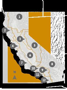 Map Of California Vacation Spots.Visit California