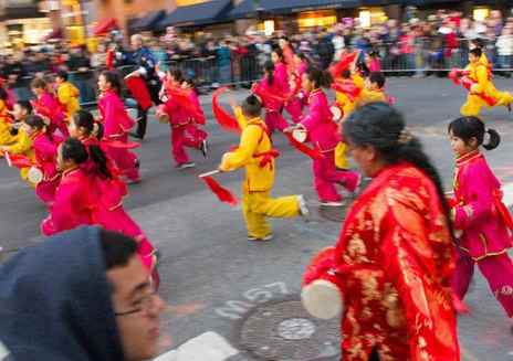 中国春节及游行