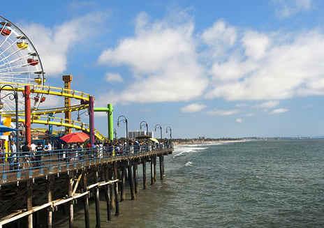 圣塔莫尼卡码头及海滩
