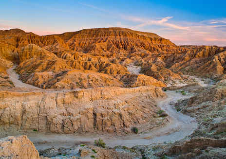 Die Borrego Badlands und Font's Point
