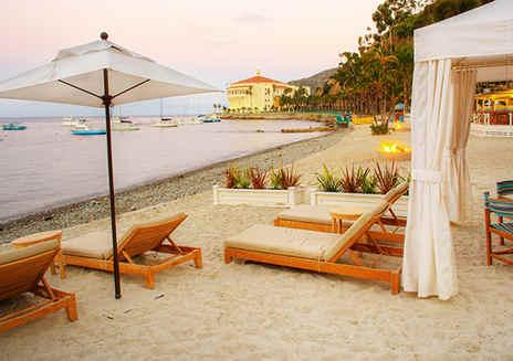 Alberghi di lusso e il Beach Club a Catalina