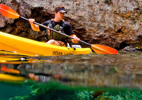 Faire du kayak dans les Channel Islands