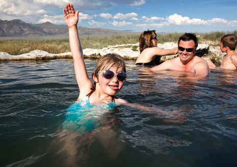 Natural Hot Springs near Mammoth Lakes