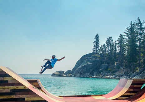 Pro skater Bob Burnquist at Lake Tahoe