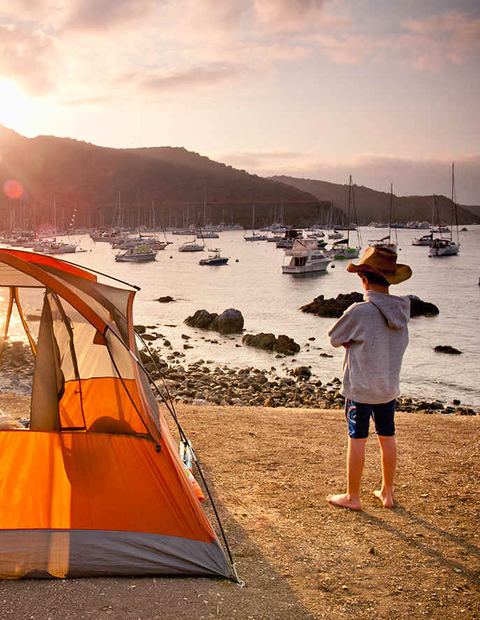 캘리포니아 최고의 해안 캠핑장들