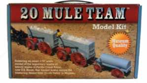 California's Most Remote Destinations 20 Mule Team Model Kit