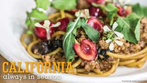 Always in Season: Cherries Bolognese with Pickled Californi