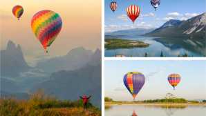 Aguas termales naturales California Hot Air Balloon Rides