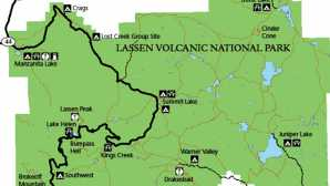 만자니타 호수 Campgrounds of Lassen Volcanic -