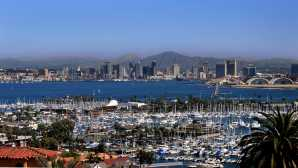 Discover San Diego County Downtown View from Point Loma -C