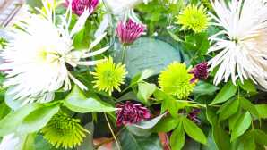 Always in Season: Santa Barbara Foodie Stroll Fresh Flower Centerpiece | Calif
