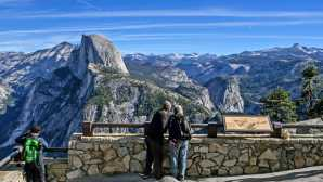 滝とファイアーフォール Glacier Point - Yosemite Nationa