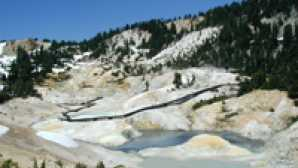 冬のラッセン Hiking Bumpass Hell Trail - Lass