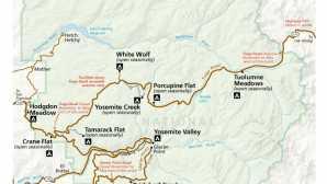 마운트 다나 트레일 Maps - Yosemite National Park (U