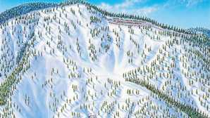 Skifahren und Snowboarden in Kalifornien Mountain High - Trail Map