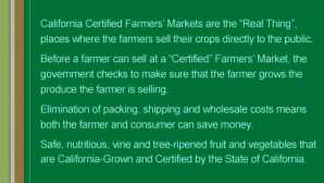 데이비스 What's A Certified Farmers' Mark