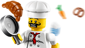Destaque: Legoland California figure-chef