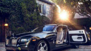 Luxury car with open door