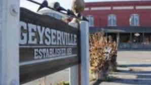 Geyserville town sign