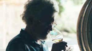 Man tasting wine in Ojai, California