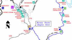 Sierra Vista Scenic Byway Map