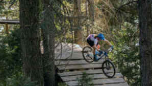 Mountain biker at Skypark