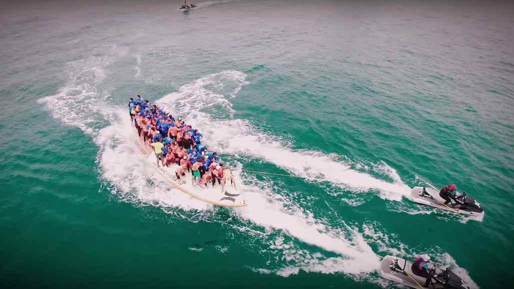 World's Largest Surfboard Makes Waves in Huntington Beach CAD - Surfboard - Key Frame
