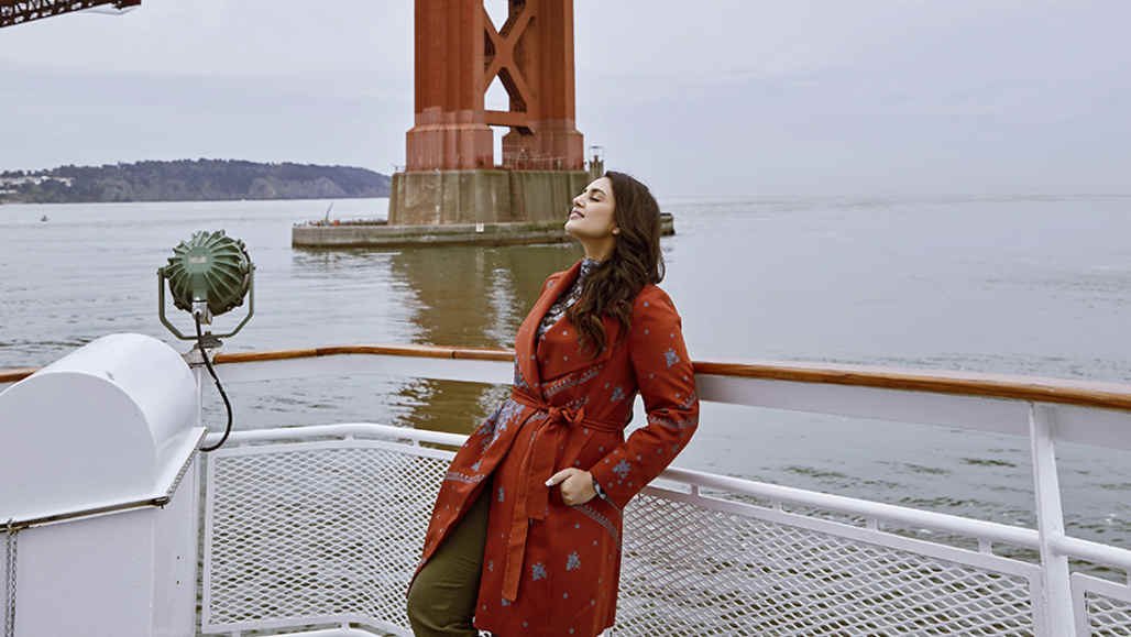California inspires me: Huma Qureshi on_board_the_hornblower_cruise_in_san_francisco