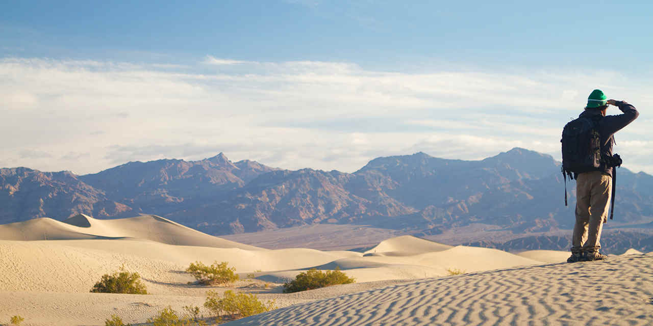 Le dune di sabbia di Mesquite Flat