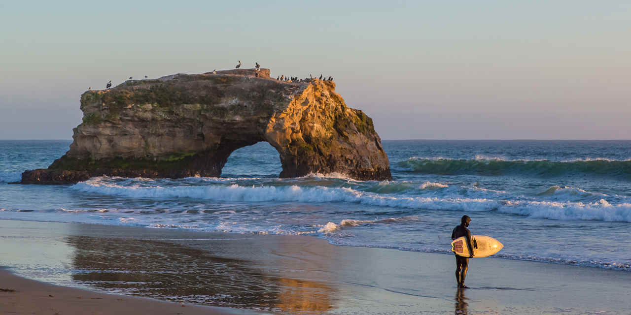 Spiaggia Natural Bridges State a Santa Cruz