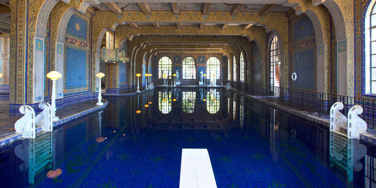 Die Pools von Hearst Castle