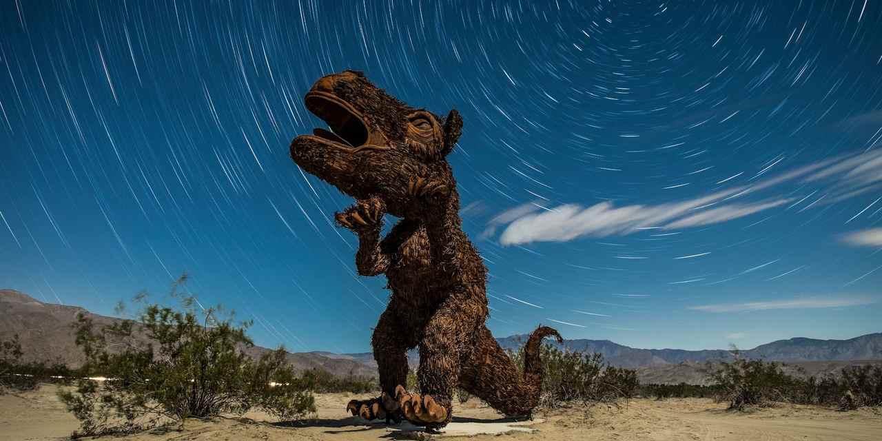 ボレゴスプリングスにある彫刻群