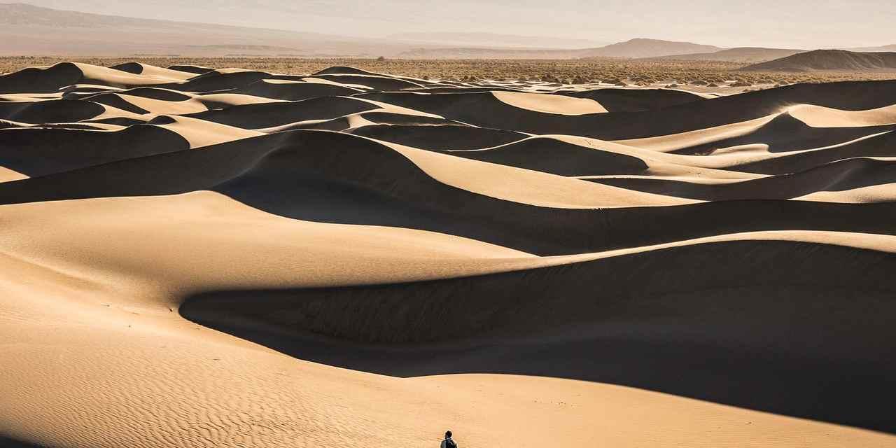 Dunas de areia em Mesquite Flat