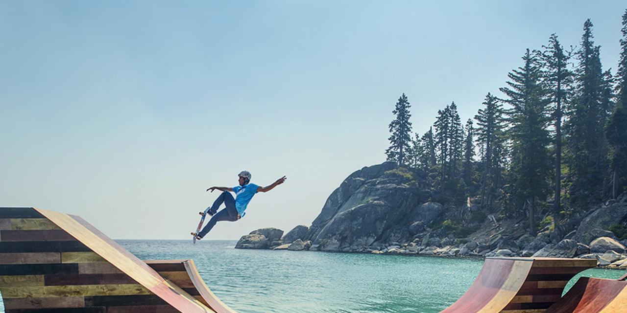 Bob Burnquist and the Lake Tahoe Skate Ramp