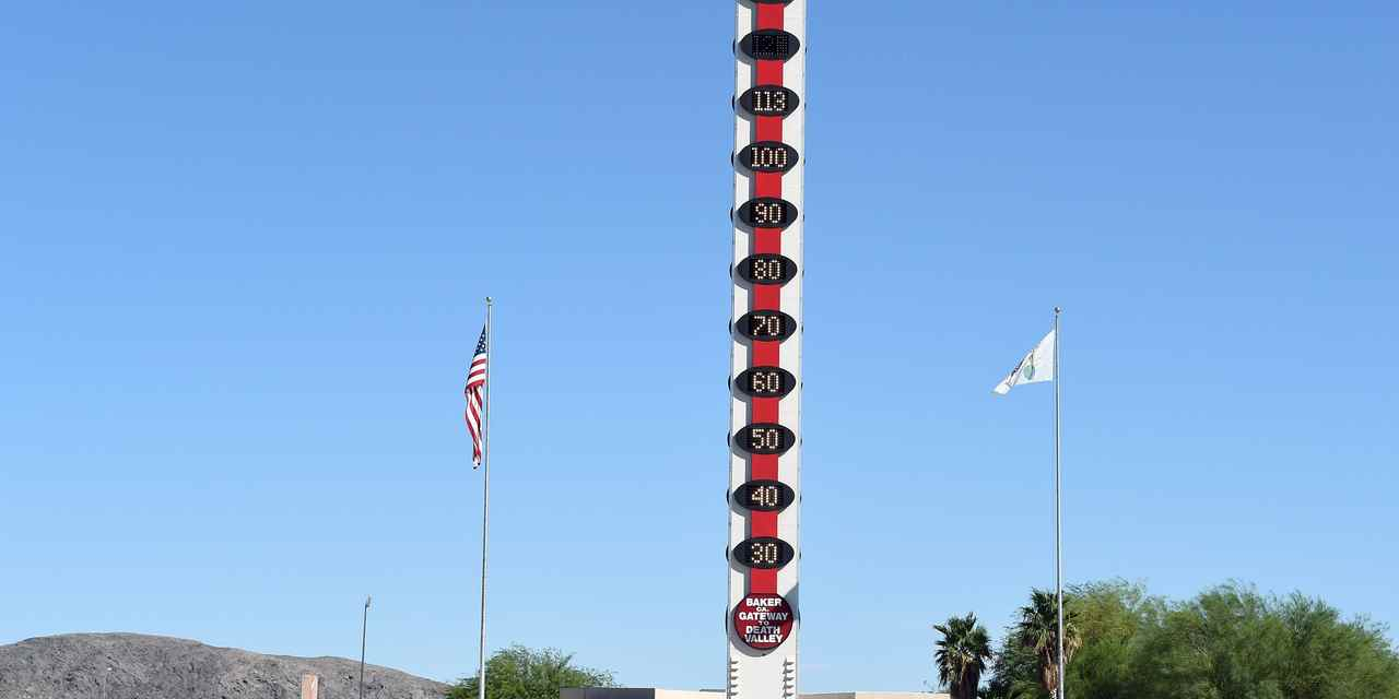 World's Tallest Thermometer - Baker