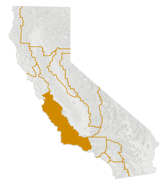 Map of the California's Central Coast