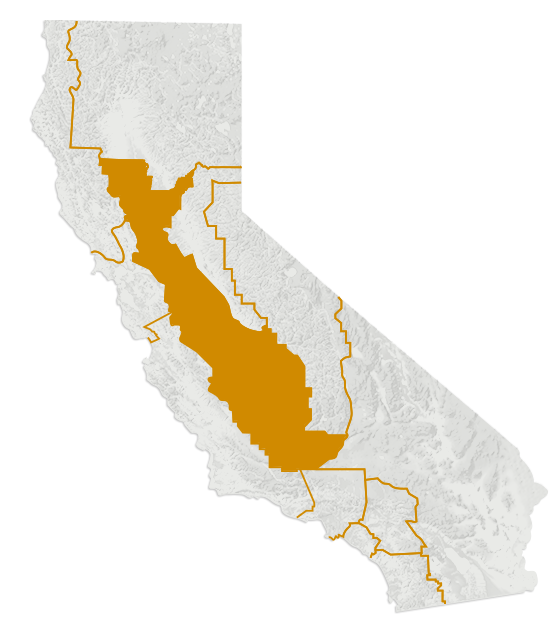 Map of California's Central Valley