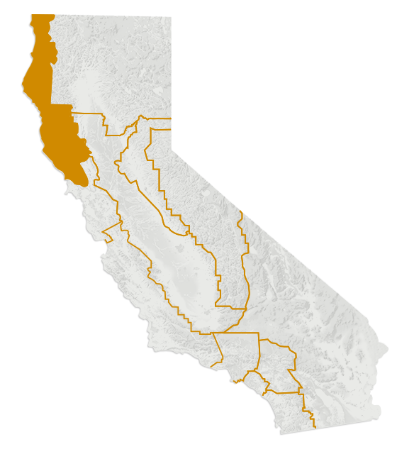 The North Coast region of California