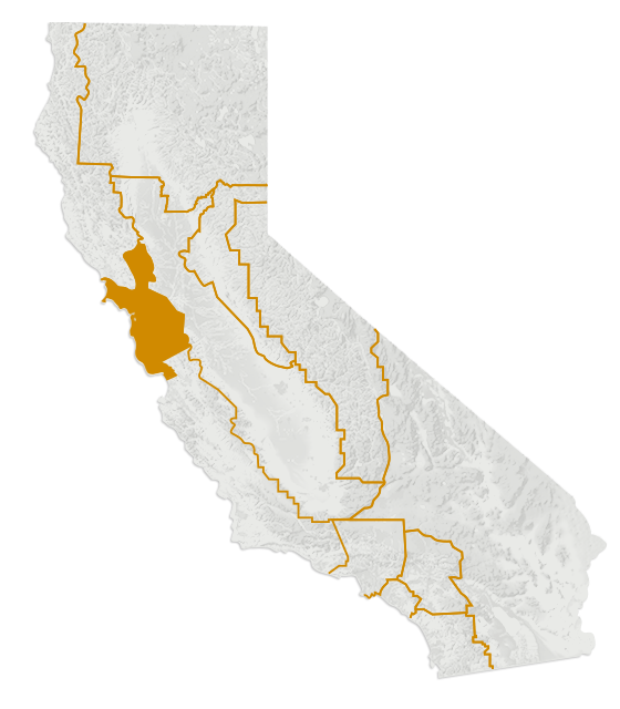 Map of the San Francisco Bay Area