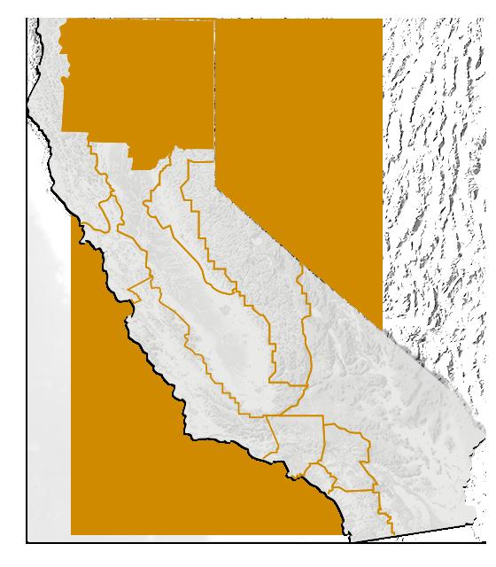Map of Shasta Cascade