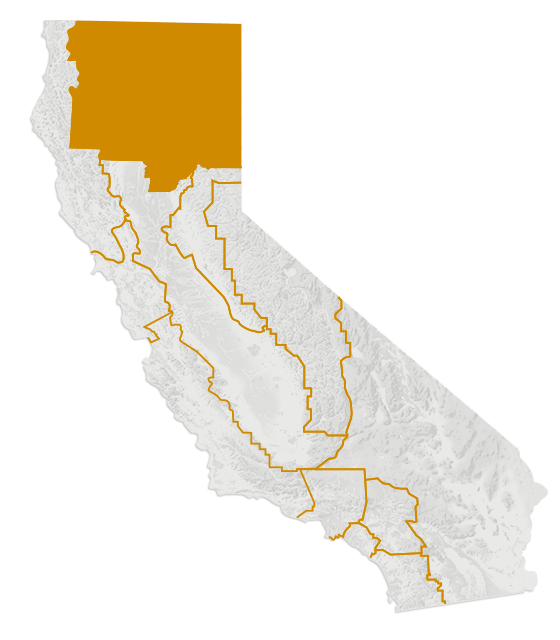 Map of Shasta Cascade
